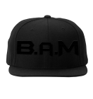 B.A.M. Snapback All Black, Black/Red, All Red - B.A.M.